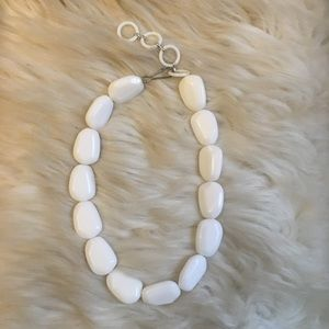 H&M Necklace white Chunky Style
